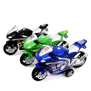 Moto de corrida a fricção - 17cm - Motocicleta de brinquedo - AB0494