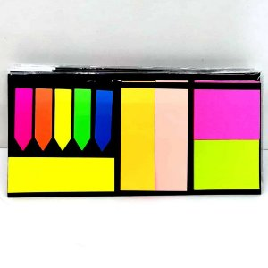 Kit com 6 Blocos para Anotacoes POST IT - 10 opcoes de post it com 20 folhas cada BJ7911