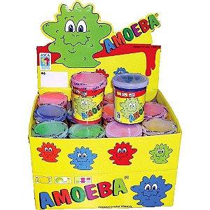 Geleca AMOEBA - Caixa com 24 potes de AMOEBA  em cores sortidas - Ref. 1010001