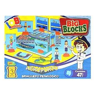 Brinquedo Educativo Jogo Pedagógico - Big Blocks AEROPORTO - IOB Madeira Artepinus ref.14