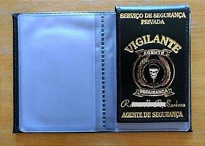 Carteira de  Vigilante porta funcional e documento