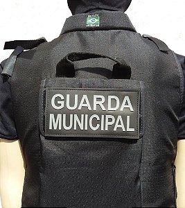 Patch Emborrachado guarda municipal para costa da capa do  colete