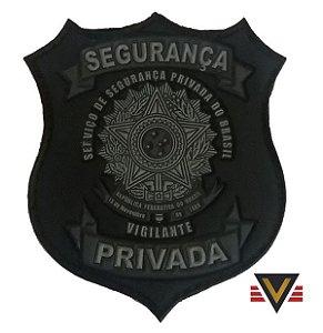 Novo Brasão segurança privada emborrachado com velcro para capa de colete vigilante