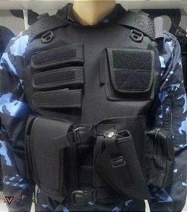 Capa de colete tática completa coldre com  porta treco - Promoção