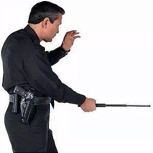 Bastão retrátil aço defesa pessoal 3 estágio - 50 cm