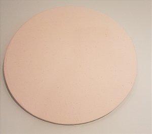 Capa de tecido para sousplat liso creme