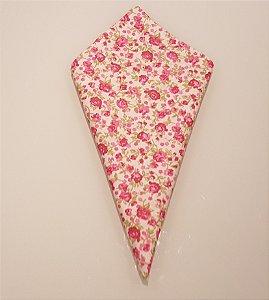 Guardanapo com florzinhas cor de rosa