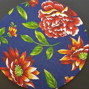 Capa Chita azul marinho com flores