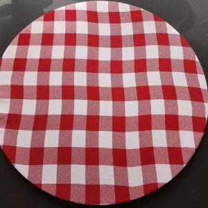 capa tecido xadrez vermelho