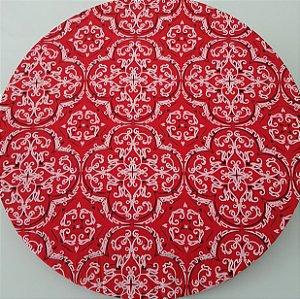 Capa tecido bandana vermelha com branco