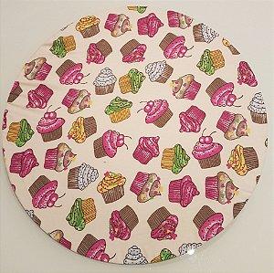 Capas de tecido sousplat docinho rosa azuk verde amarelo