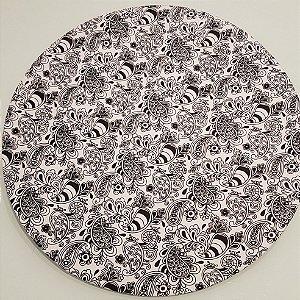 Capa Sousplat Mosaico Preto fundo branco