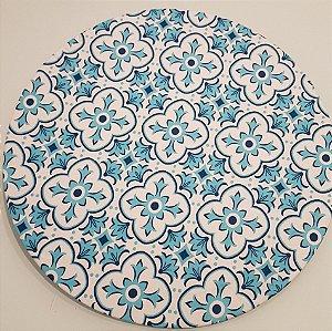 Capa Sousplat Mosaico azul com fundo branco