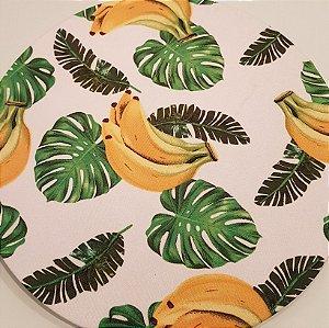 Capa Sousplat Bananas Folhas Costela de Adão