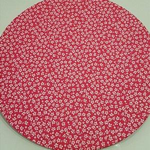 Capa Sousplat Florzinha branca fundo Pink