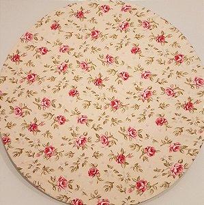 Capa Sousplat flor rosa vermelha fundo Amarelhinho puxando para o verdinho