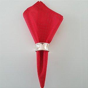Guardanapo fundo vermelho com bolinhas rosa