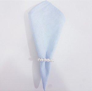 Guardanapo fundo azul claro com microbolinhas branca
