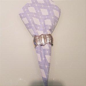 Guardanapo mosaico azul claro com coraçao