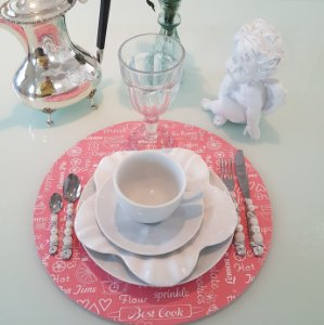 Capa Sousplat best cook rosa salmao