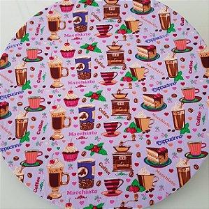 Capa Sousplat cupcake rosa