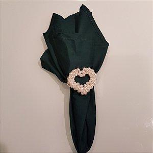 Guardanapo algodão verde escuro liso