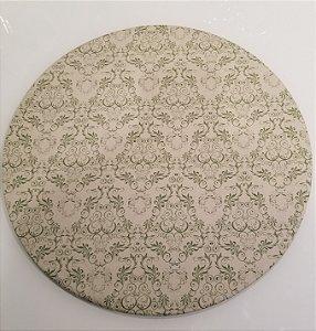 Capa de tecido para sousplat mosaico verde