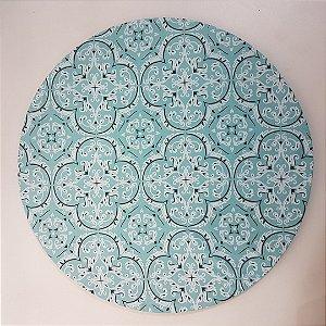 Capa de tecido para sousplat bandana azul agua