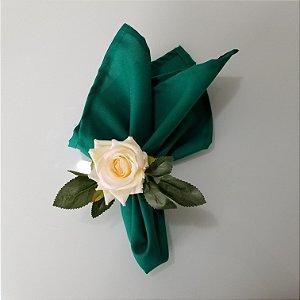 Guardanapo verde copa tecido tergal 42cm