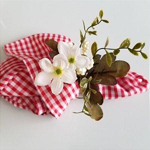 Porta guardanapo florzinha branquinha