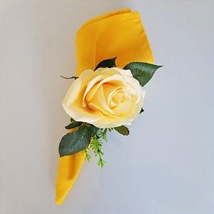 Guardanapo algodao 42cm amarelo