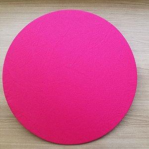 Capa sousplat tecido tecido pink brim levinho