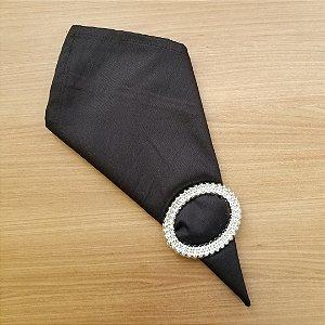 Guardanapo preto tecido algodão 42 cm