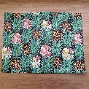Lugar Americano tecido decoração 45,5 cm por 35cm abacaxis animal printe