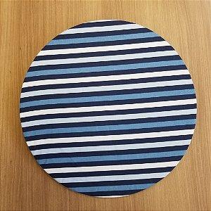 Capa de tecido decoração listrado azul branco