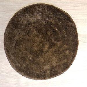 Capa de tecido de Pelúcia Marrom peludinho