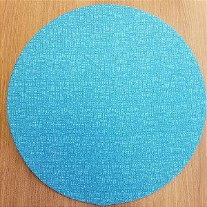 Capa de tecido riscadinho azul