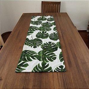 Caminho de Mesa costela de adão tecido decoração 43cm por 1,38 cm