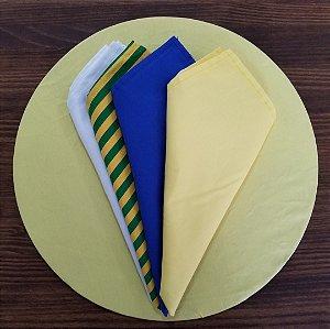 Capa Sousplat tecido algodão amarelo