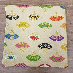 Guardanapo de tecido algodão 42cm leques japonezinha