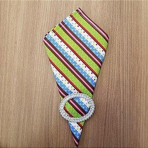 Guardanapo de tecido algodão 42cm listrado marrom branco rosa poas verdes florzinhas brancas com fundo azul clarinho