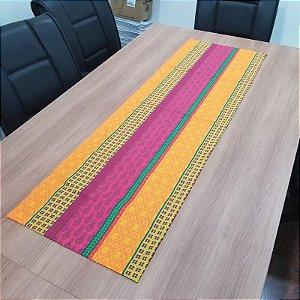 Caminho de mesa mosaico listrado