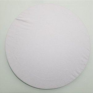 Capa de tecido branco liso tergal