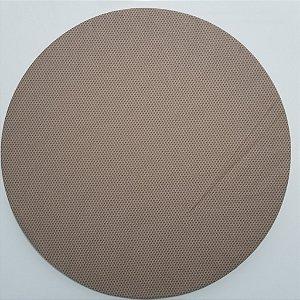 Capa de tecido trançado marrom