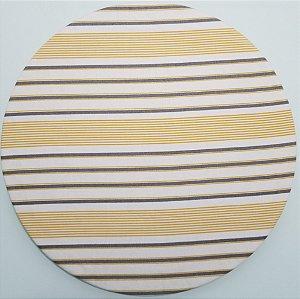 Capa de tecido listrado espaçado amarelo e verde