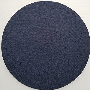 Capa de tecido azul marinho liso