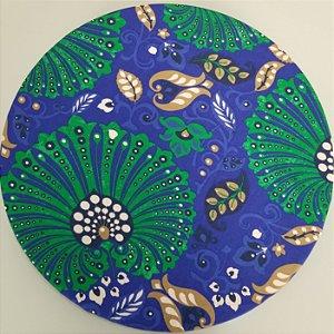 Capa de tecido mosaico pavao