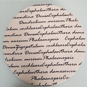 Capa de tecido escrita
