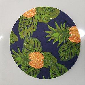 Capa de tecido abacaxi fundo azul