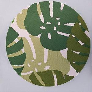 Capa de tecido costela de adao verde escuro